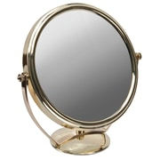 "Naturally by Kingsley 10x Magnification Polished Beauty Mirror 9"" x 9"", Chrome (M-110)"