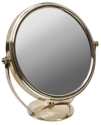 """Naturally by Kingsley 10x Magnification Polished Beauty Mirror 9"""" x 9"""", Chrome (M-110)"""