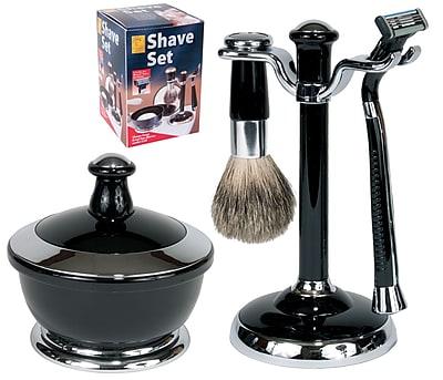 Kingsley for Men 5 Piece Men's Shave Set Black/Chrome (SB-651)