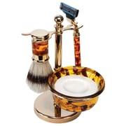 Kingsley for Men 5-Piece Men's Shave Set Mock, Tortoise/Brass (SB-660)