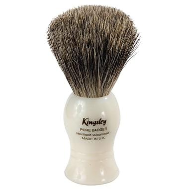 Kingsley for Men Pure Badger Bristle Shave Brush-Faux Ivory Handle