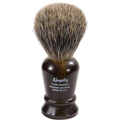 Kingsley for Men Pure Badger Bristle Shave Brush-Faux Tortoise Handle (SB-8014)