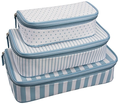 Naturally by Kingsley Set/3 Cosmetic Bags 11.5