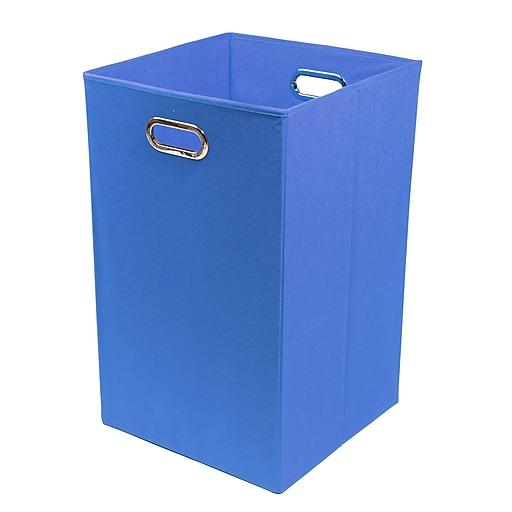 Modern Littles Bold Folding Laundry Basket, Blue