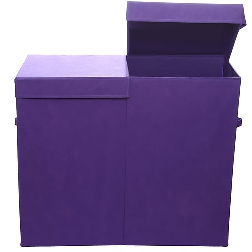 Modern Littles Bold Folding Double Laundry Basket, Purple