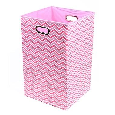 Modern Littles Rose Zig Zag Folding Laundry Basket 13.75