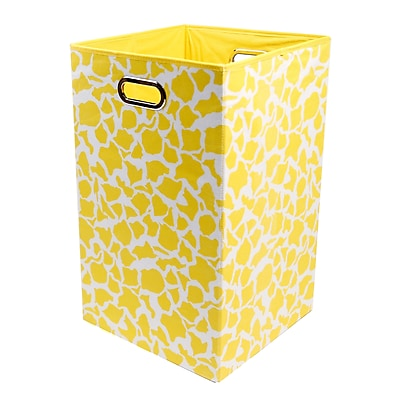 Modern Littles Folding Laundry Basket, Rusty Giraffe, 13.75