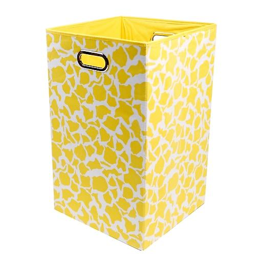 "Modern Littles Folding Laundry Basket, Rusty Giraffe, 13.75"" x 13.75"" x 22.75"" (RSTLAUN301)"