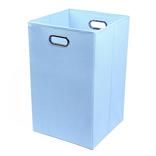 Modern Littles Bold Folding Laundry Basket, Baby Blue