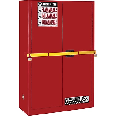 Justrite® Sure-Grip® Ex High Security Flammable Safety Cabinets, 2 Doors, Red, : 43