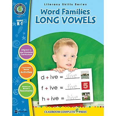 eBook: Word Families - Long Vowels, Grades K-1 (PDF version, 1-User Download), ISBN 978-1-55319-403-3