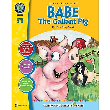 eBook: Babe: The Gallant Pig Literature Kit, Grades 3-4 (PDF version, 1-User Download), ISBN 978-1-55319-324-1