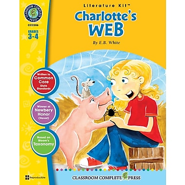 eBook: Charlotte's Web Literature Kit, Grades 3-4 (PDF version, 1-User Download), ISBN 978-1-55319-330-2
