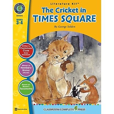 eBook: The Cricket in Times Square Literature Kit, Grades 3-4 (PDF version, 1-User Download), ISBN 978-1-77167-005-0