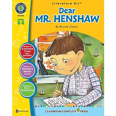 Dear Mr. Henshaw Literature Kit, Grade 5-6, ISBN 978-1-55319-447-7