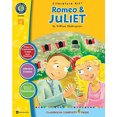 eBook: Romeo & Juliet Literature Kit, Grades 7-8 (PDF version, 1-User Download), ISBN 978-1-55319-386-9