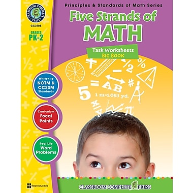 Five Strands of Math - Tasks Big Book, prématernelle à 2e année, livre num. (téléch. 1 util.), ISBN 978-1-55319-463-7, anglais