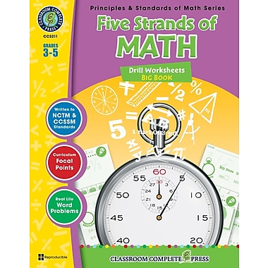 Five Strands of Math - Drills Big Book, 3e à 5e années, livre num. (téléch. 1 util.), ISBN 978-1-55319-527-6, anglais