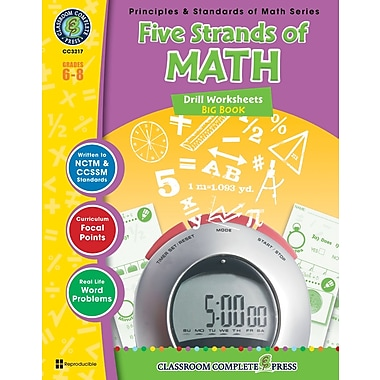 Five Strands of Math - Drills Big Book, 6e à 8e années, livre num. (téléch. 1 util.), ISBN 978-1-55319-533-7, anglais