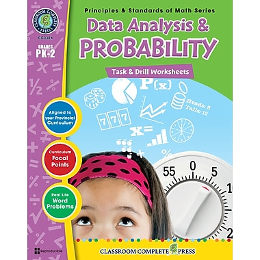 eBook: Data Analysis & Probability - Task & Drill Sheets, Grades PK-2 (PDF version, 1-User Download), ISBN 978-1-55319-538-2