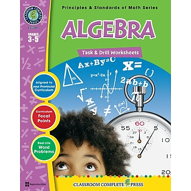eBook: Algebra - Task & Drill Sheets, Grades 3-5 (PDF version, 1-User Download), ISBN 978-1-55319-540-5