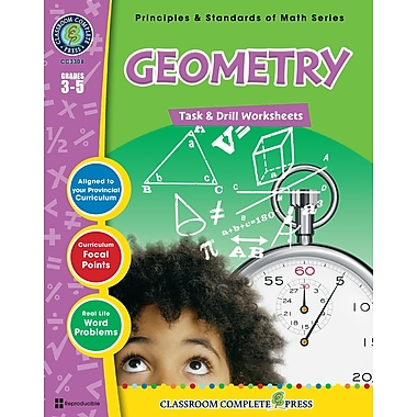 eBook: Geometry - Task & Drill Sheets, Grades 3-5 (PDF version, 1-User Download), ISBN 978-1-55319-541-2