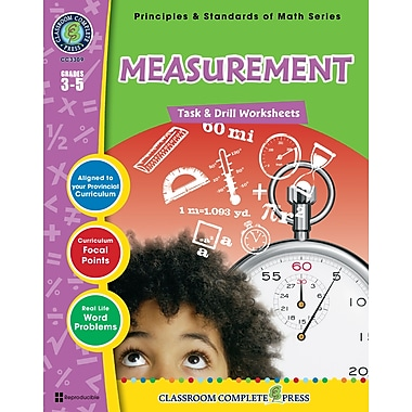 eBook: Measurement - Task & Drill Sheets, Grades 3-5 (PDF version, 1-User Download), ISBN 978-1-55319-542-9