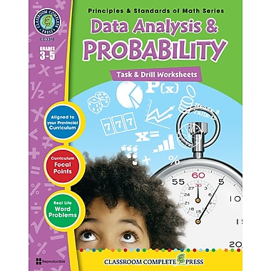 eBook: Data Analysis & Probability - Task & Drill Sheets, Grades 3-5 (PDF version, 1-User Download), ISBN 978-1-55319-543-6