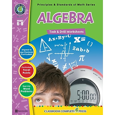 eBook: Algebra - Task & Drill Sheets, Grades 3-5 (PDF version, 1-User Download), ISBN 978-1-55319-545-0