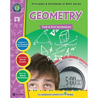 eBook: Geometry - Task & Drill Sheets, Grades 3-5 (PDF version, 1-User Download), ISBN 978-1-55319-546-7