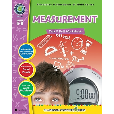Measurement - Task & Drill Sheets, Grades 3-5, ISBN 978-1-55319-547-4