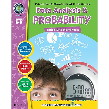 eBook: Data Analysis & Probability - Task & Drill Sheets, Grades 3-5 (PDF version, 1-User Download), ISBN 978-1-55319-548-1