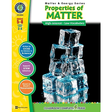 eBook: Properties of Matter, Grades 5-8 (PDF version, 1-User Download), ISBN 978-1-55319-370-8