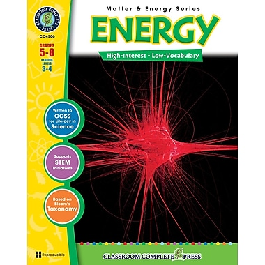 eBook: Energy, Grades 5-8 (PDF version, 1-User Download), ISBN 978-1-55319-372-2