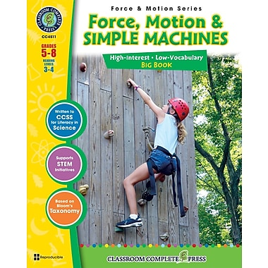 eBook: Force, Motion & Simple Machines Big Book, Grades 5-8 (PDF version, 1-User Download), ISBN 978-1-55319-377-7