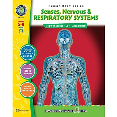 Senses, Nervous & Respiratory Systems, Grades 5-8, ISBN 978-1-55319-379-1