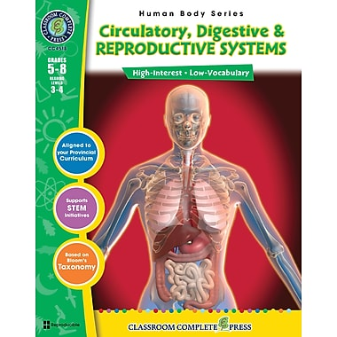 eBook: Circulatory, Digestive & Reproductive Systems, Grades 5-8 (PDF version, 1-User Download), ISBN 978-1-55319-380-7