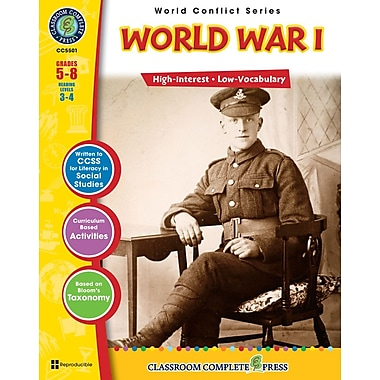 eBook: World War I, Grades 5-8 (PDF version, 1-User Download), ISBN 978-1-55319-356-2