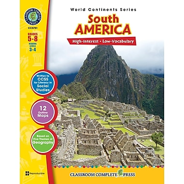 South America, 5e à 8e années, ISBN 978-1-55319-309-8