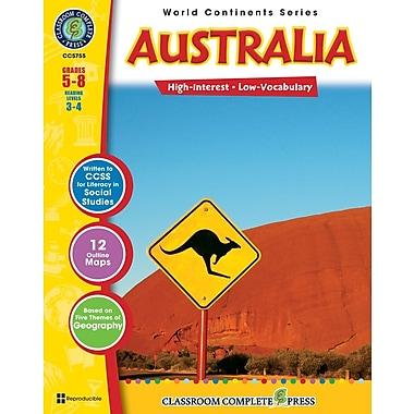 Australia, anglais, 5e à 8e années, livre num. (téléch. 1 util.), ISBN 978-1-55319-313-5