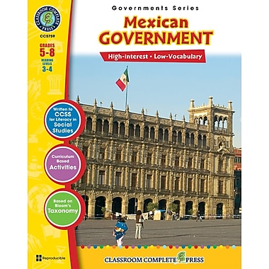 eBook: Mexican Government, Grades 5-8 (PDF version, 1-User Download), ISBN 978-1-55319-345-6