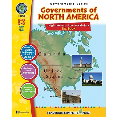 eBook: Governments of North America Big Book, Grades 5-8 (PDF version, 1-User Download), ISBN 978-1-55319-346-3