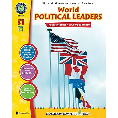 World Political Leaders, 5e à 8e années, ISBN 978-1-55319-352-4