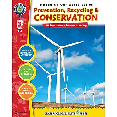 eBook: Prevention, Recycling & Conservation, Grades 5-8 (PDF version, 1-User Download), ISBN 978-1-55319-303-6