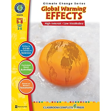 eBook: Global Warming: Effects, Grades 5-8 (PDF version, 1-User Download), ISBN 978-1-55319-410-1