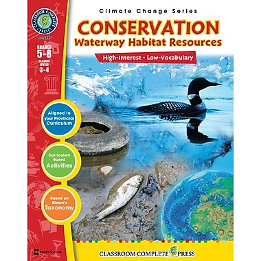 Conservation: Waterway Habitats Resources, 5e à 8e années, ISBN 978-1-55319-434-7