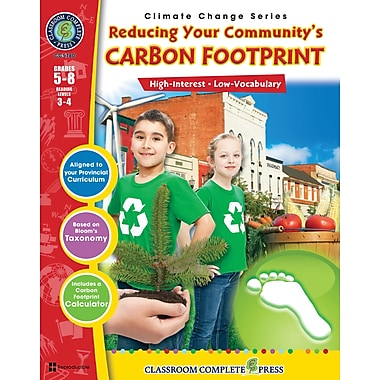 Reducing Your Community's Carbon Footprint, anglais, 5e à 8e années, livre num. (téléch. 1 util.), ISBN 978-1-55319-478-1