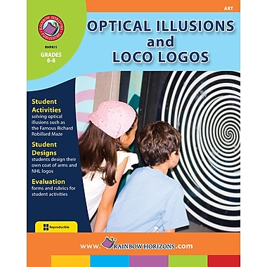 Optical Illusions and Loco Logos, Grades 6-8, ISBN 978-1-55319-026-4