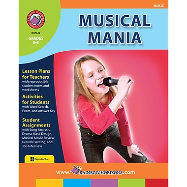eBook: Musical Mania, Grades 6-8 (PDF version, 1-User Download), ISBN 978-1-55319-032-5
