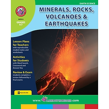 eBook: Minerals, Rocks, Volcanoes & Earthquakes, Grades 4-7 (PDF version, 1-User Download), ISBN 978-1-55319-006-6